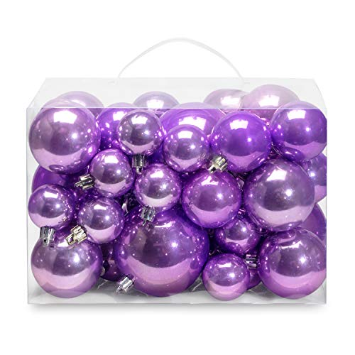 AMS Christmas Ball Plating Ornaments Tree Collection for Holiday Parties Decoration (40ct...