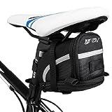 BV(ビーブイ) 自転車 サドルバッグ ストラップ式 自転車バッグ シートバッグ 容量拡張 耐水性 (Large)