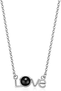 Aigemi 100 Languages Necklace I Love You Necklace for Women Girls Memory Necklace Best Gift for Her