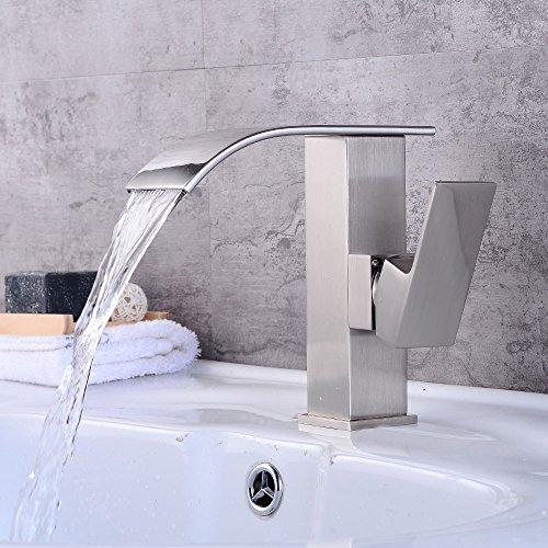 Wasserfälle, dunkles, heißes und kaltes Wasser. A 1,360° drehbar Wasserhahn Küche Einhebelmischer Spültisch Armatur Küchenarmatur Spültischarmatur Spülbecken Mischbatterie