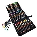 72 matite colorate in un astuccio con cerniera- matite da disegno colorate - scatola di matite colorate professionali per adulti - ideali per colorare,disegnare, astuccio cancelleria scuola