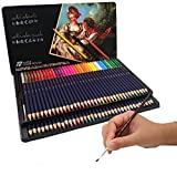 N /A 72 Lápices de Colores con Caja de Metal - 72 Colores Únicos Estuche de Lapices de Colores Profesional Adultos Niños con Caja de Metal para Artistas, Adultos y Niños