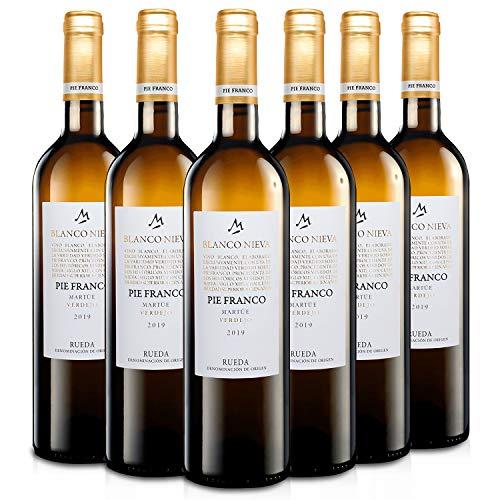 Martúe Blanco Nieva Pie Franco Vino Blanco Verdejo D.O. Rueda - 6 Botellas x 750 ml (2019, 6)