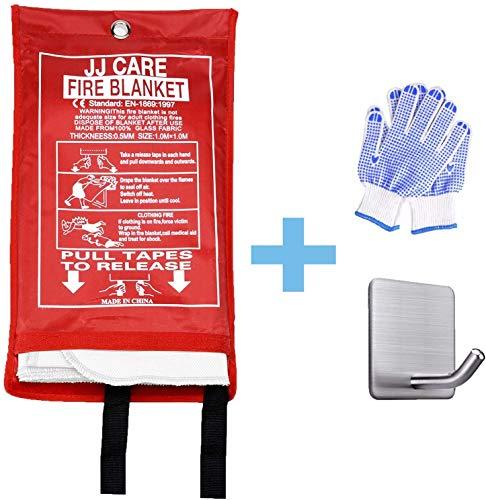 JJ CARE Premium Fire Blanket (Extra Large) Fire Suppression Fire Fighting Blanket Fiberglass Cloth (79