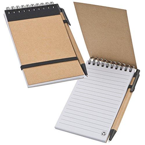 Schreibset / bestehend aus Kugelschreiber und Spiral-Notizbuch ca. DIN A6