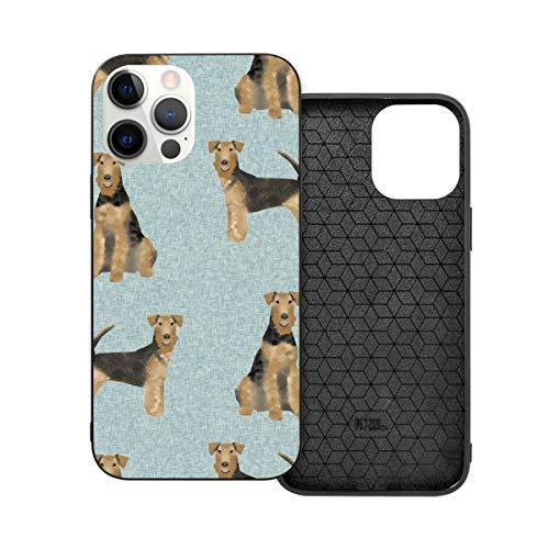 Funda de protección compatible con iPhone 12 / iPhone 12 Pro Airedale Terrier Dog Raza Mascotas Mascotas Mascotas Casos de Teléfono Perro Funda Funda Suave Silicona TPU