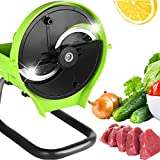 Slicer for Commercial and Kitchen - Multifunction Manual and Automatic Changeable Food Slicer for Cheese Fruit Vegetable onion lemon meat beef jerky (Automatic)