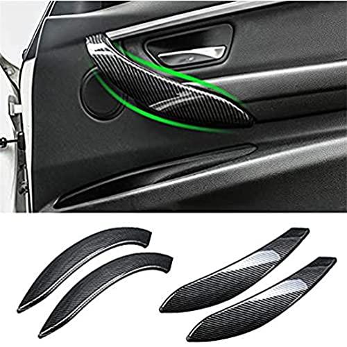 YFBB Cubierta de manija de Puerta Interior con Apariencia de Carbono para Coche para BMW 3 Series F30 F31 2013-2017 GT F34 14-17 4 Series 4 dr F36 15-17