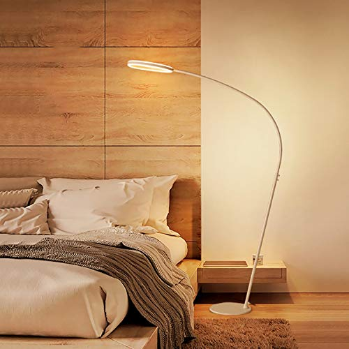 JIAWEI LED vloerlamp ter bescherming van de ogen - afstandsbediening met lichtschakelaar met lange mouwen - materiaal gemaakt van aluminiumlegering PVC - -26W wit