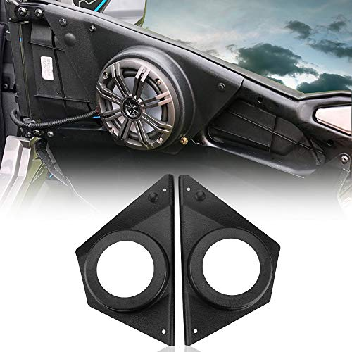 UTV Door Pods, KEMIMOTO RZR Front Door Speaker Pods Compatible with 2015 2016 2017 2018 2019 Polaris RZR 900 S 1000 XP ACE