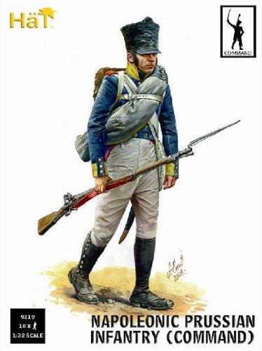 Commandement d'infanterie prussienne. 18 figurines par boîte