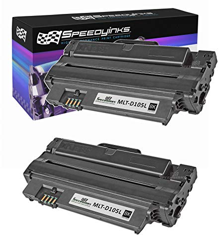 Speedy Inks Toner Cartridge Replacement for Samsung MLT-D105L High Yield (Black, 2-Pack)