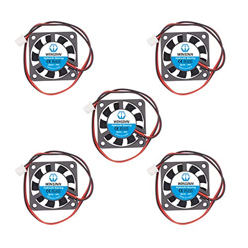 WINSINN - Ventilador de 40 mm, 24 V, rodamientos hidráulicos sin escobillas, 40 x 10 mm, para enfriamiento Ender 3 / Pro, silencioso, 5 unidades