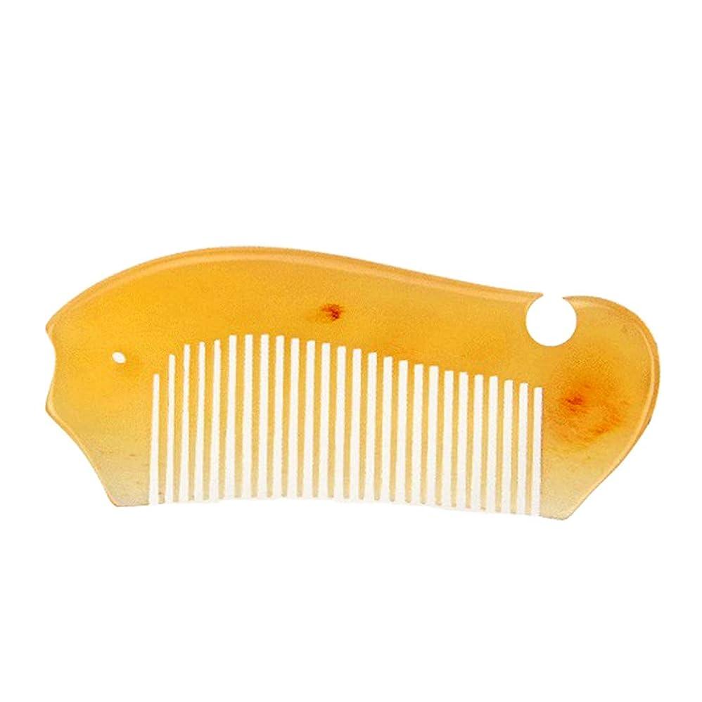 特権的上流の領域Lurrose ヘアコームフィッシュシェイプポータブルマッサージヘアスムージングコーム帯電防止防止脱毛コーム女性女の子
