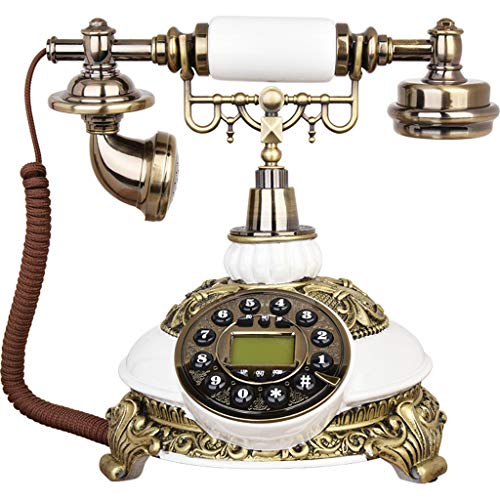 ZARTPMO Teléfono Fijo Retro de Resina,Teléfono Antiguo Fijo Universal de Estilo Clásico para Escritorios, Salas, Dormitorios