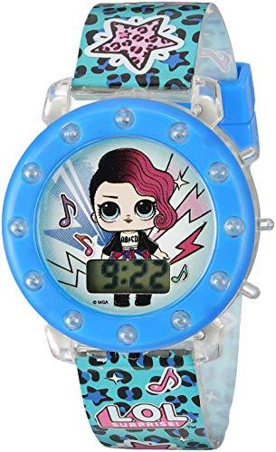 L.O.L. Surprise! Girls' Quartz Watch with Plastic Strap, Purple, 18.3 (Model: LOL4045)