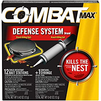 Combat Max Defense System Brand Small Roach Killing Bait and Gel 12 Count