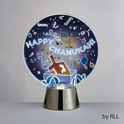 Happy Chanukah LED Light Up Decoration - Dreidel Design