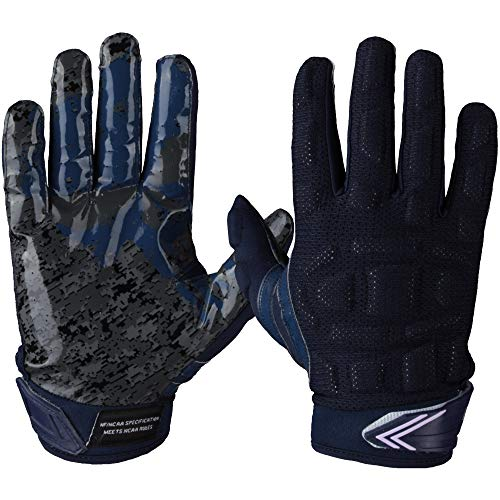 Leicht gepolsterte Multiposition Football Handschuhe Full Force Player - Navy Gr. 2XL