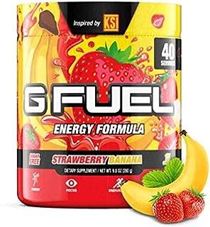 G Fuel KSI's Strawberry Banana Tub (40 Servings) Elite Energy and Endurance Formula 9.8 oz.
