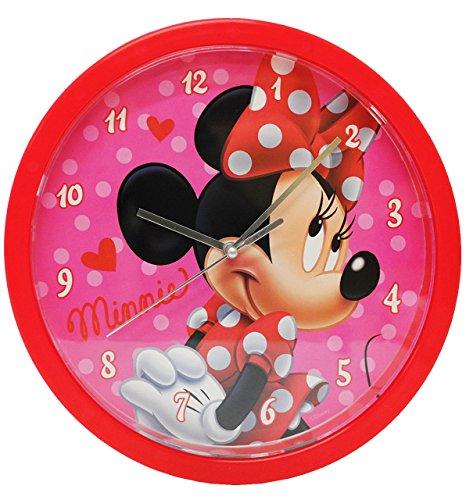 alles-meine.de GmbH Wanduhr -  Disney Minnie Mouse  - 25 cm groß - sehr leise ! - Uhr - Analog - Wohnzimmer & Kinderzimmer - für Mädchen Kinder - Kinderuhr - Maus - Playhouse -..
