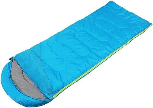ZXQZ Sac de Couchage Adulte Camping Plus épais Sac de Couchage Chaud Sac de Couchage de Bureau portable Pause-déjeuner Sac de Couchage Adulte (Couleur   Bleu, Taille   1.3kg)