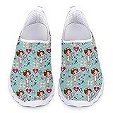 Showudesigns Zapatillas de Enfermera Trabajo Zapatos Sanitarias Mujer Enfermero Comodas Sneakers Correr Deportes Casual Ligeras para Transpirable, Talla 41 EU