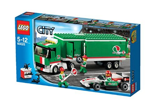 LEGO CITY Grand Prix Truck with Formula Race Car and Pit Crew | 60025