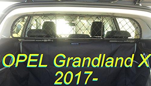 ERGOTECH Trennnetz Trenngitter OPEL Grandland X RDA65-XXS16, für Hunde und Gepäck. Sicher, komfortabel für Ihren Hund, garantiert!