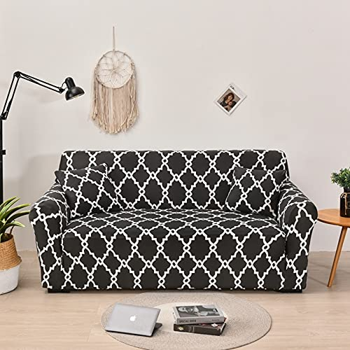 WXQY Funda de sofá geométrica Sala de Estar Esquina para Mascotas Funda de sofá Chaise Longue en Forma de L, Funda de sofá Flexible Funda de sofá A17 2 plazas