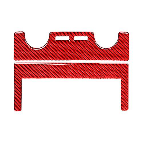 Runtodo - Pannello di controllo centrale per condizionatore d'aria in fibra di carbonio, per Tundra 2014-2021, colore: Rosso
