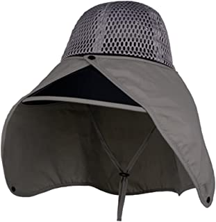 ZXAZBHD Unisex Summer Sun Hat, Outdoor Riding Cover Face UV Protection Sun Visor with Chin Band Outdoor,Travel (Color : Gray)