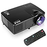 Pyle Full HD DLP 1080P 3000 Lumens Projector Home Theater High Performance Ceiling Mountable, System & Keystone Adjustment for TV, Laptop & Business Office Presentation-(PRJLEDLP205)