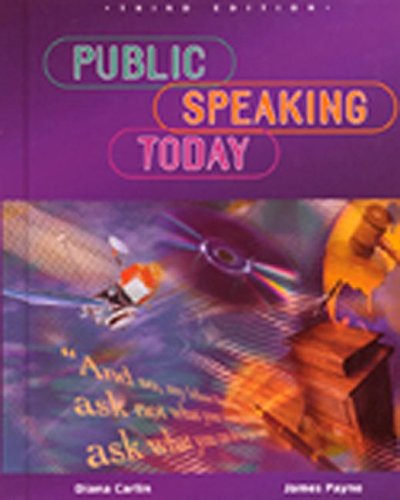 mcgraw hill books on public speakings Public Speaking Today, Student Edition (NTC: SPEECH COMM MATTERS)