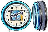 Checkingtime LLC 19' Blue Moon Belgian Beer Sign Neon Clock, Blue Outside Tube, White Inside