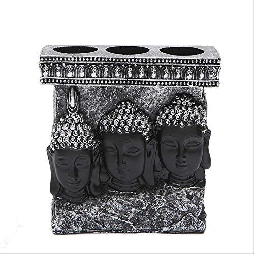 LSECE Decoración de Estatua de Buda tailandés, gabinete de Vino, decoración de Sala de Estar de Oficina, decoración Occidental de Tres Santos