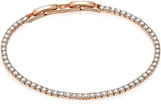 MESTIGE Rose Gold Olivia Bracelet with Swarovski Crystals, Gifts Women Girls, Bridal Bracelet