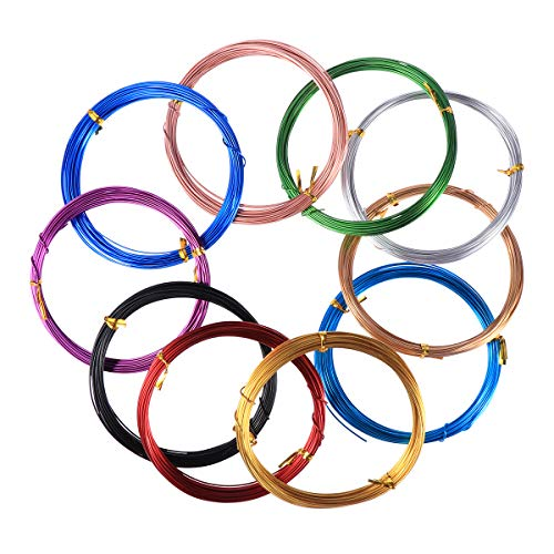 SUPVOX 10PCS Aluminio Craft Wire Anodized Jewelry Craft Making Abalorios Floral Wire para DIY Crafts and Model Skeleton Projects