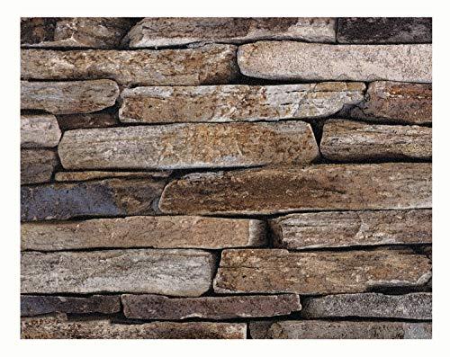 Glorex 6 1330 010 Design behang, zandstenen, ideaal voor knutselen en decoreren, ca. 120 x 53 cm.