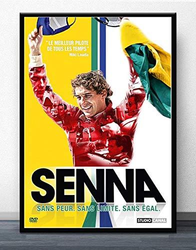 wqmdeshop Carteles Y Fotos Ayrton Senna F1 Formula World Championship Cuadro sobre Lienzo para Pared Decoración De Habitación Moderna 40X50Cm -Jp719