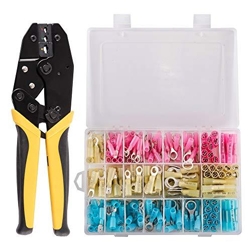 TR TOOLROCK Crimpzange Flachsteckhülsen Set, Crimpwerkzeuge Set, 270 Stück Kabelstecker 0.5-6 mm²