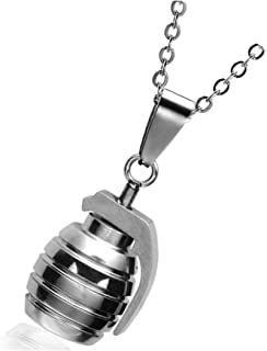 Hip CSGO Necklace Stainless Steel Sports Hand Grenades Bombs