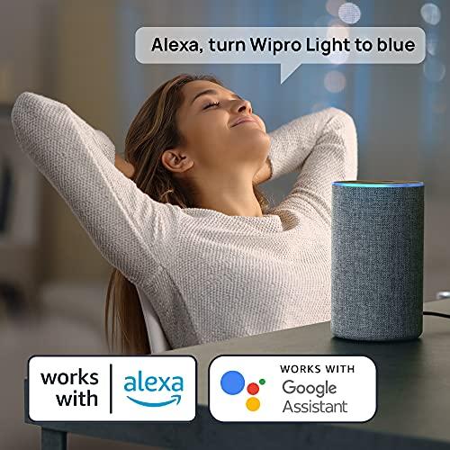 wipro 9-Watt B22 WiFi Smart LED Bulb with Music Sync (16 Million Colours + Warm White/Neutral White/White) (Compatible with Amazon Alexa and Google... 6