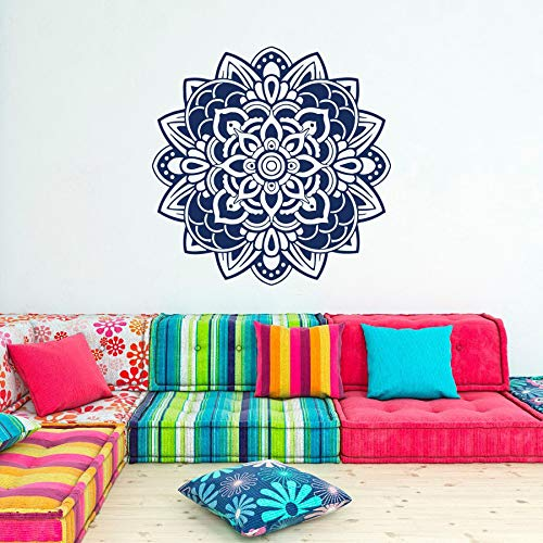 hetingyue Fototapete Mandala Blume Wandkunst Dekoration Böhmen Indien Marokko Indische Ornamente Raum Innenarchitektur Studio Yoga 57x57cm