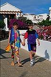 651025 Two Children Walking Playa Blanca Lanzarote España A4 - Póster fotográfico (10 x 8 cm)