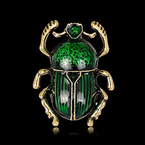 DREAMDEER Broche de Insectos Joyería Mujeres Escarabajo de Lujo Decoración de Moda Traje Ramillete - Verde