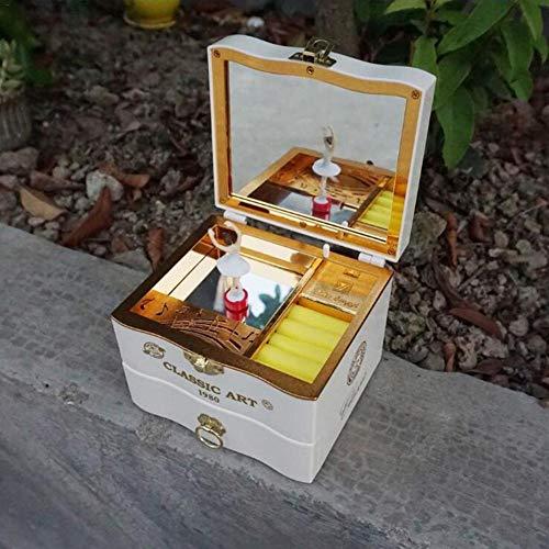 Clevoers Ballerina Spieldose Schmuckkästchen, Spieluhr Spieldose Schmuckästchen Schmuckbox Mit Schublade Für Kinder Musik Box Musikspieldosen