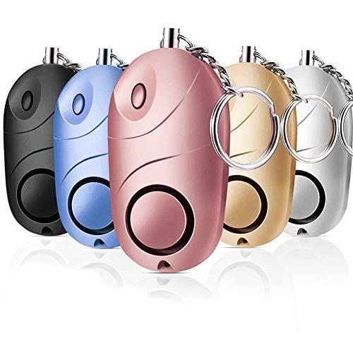 Yuxunqin Alarma Personal Sound Sound Emergencia Autodefensa Seguridad Alarma Llavero Llavero Linterna Linterna Anti Attack Tool para Mujeres Chicas Niños 1-Paquete (Color : Yellow)