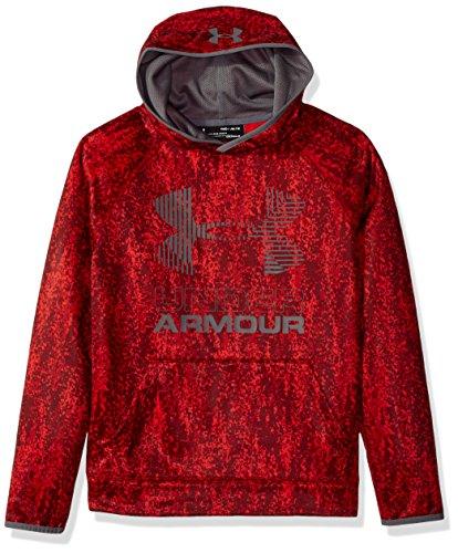 Under Armour 1308379  Boys SG AF Big Logo Hoodie, Red /Graphite, Youth Medium
