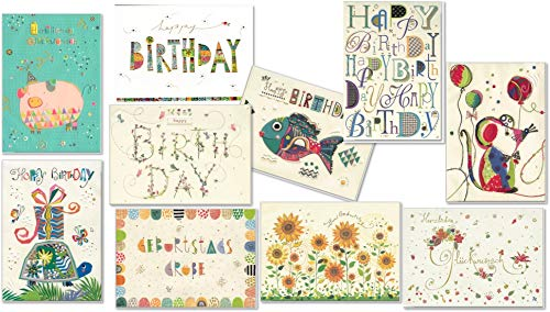 Set van wenskaarten voor verjaardag - hoogwaardige verjaardagskaarten van Turnowsky 17,5 cm x 12 cm